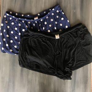 Two pair of Old Navy pajama shorts